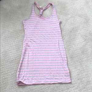 Dresses & Skirts - Racer back cotton striped dress great condition